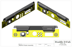 Double D Dashboard for Jeep Scramblers