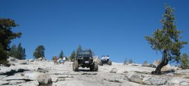 Jeep Wranglers on Rubicon Trail