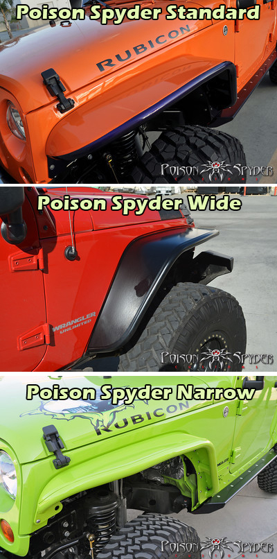 Poison Spyder Crusher Fender Jeep JK