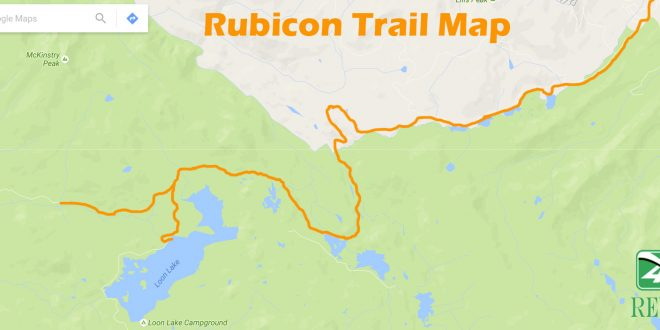 directions   rubicon trail  trail map xreview  road magazine